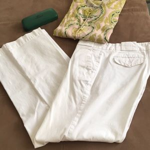 Gap Stretch 4 White Wide Leg Pant Trousers Spring